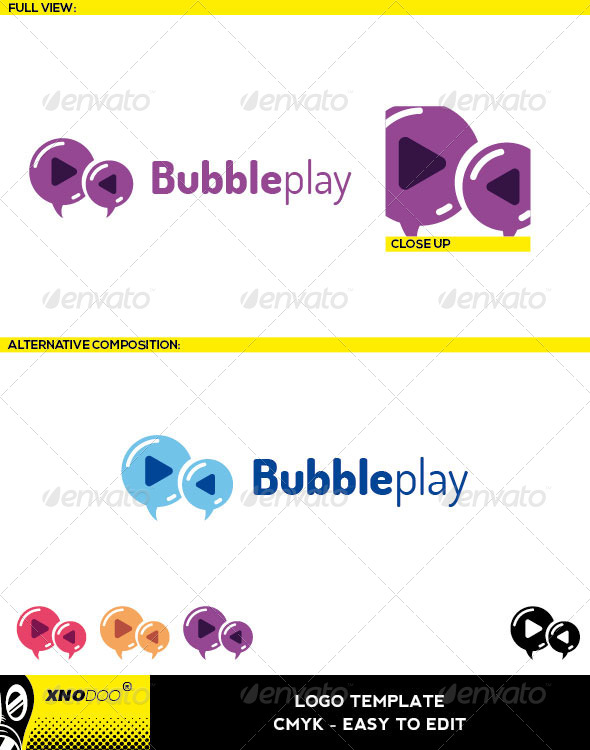 Bubbleplay Logo - Symbols Logo Templates