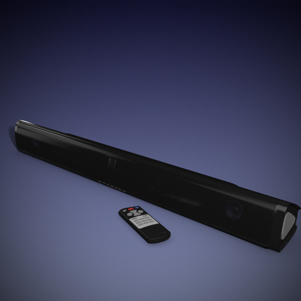 Sound bar Speaker - 3DOcean Item for Sale