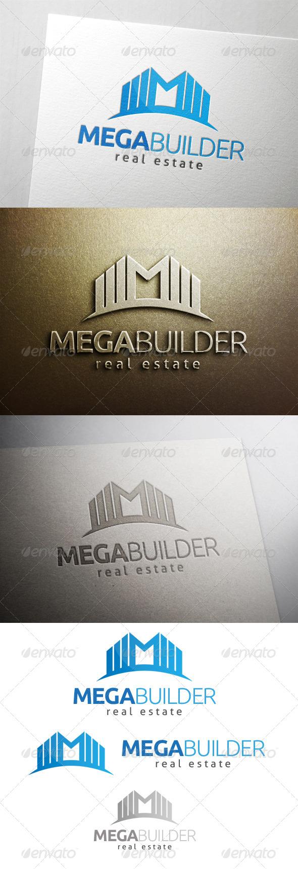 Mega Building Logo - Buildings Logo Templates
