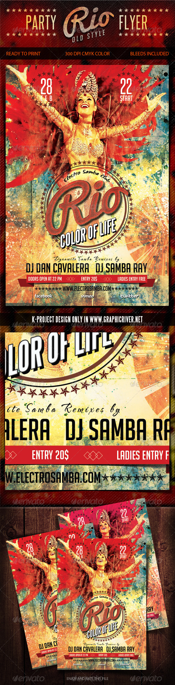 Old Style Rio Party Flyer - Clubs & Parties Events