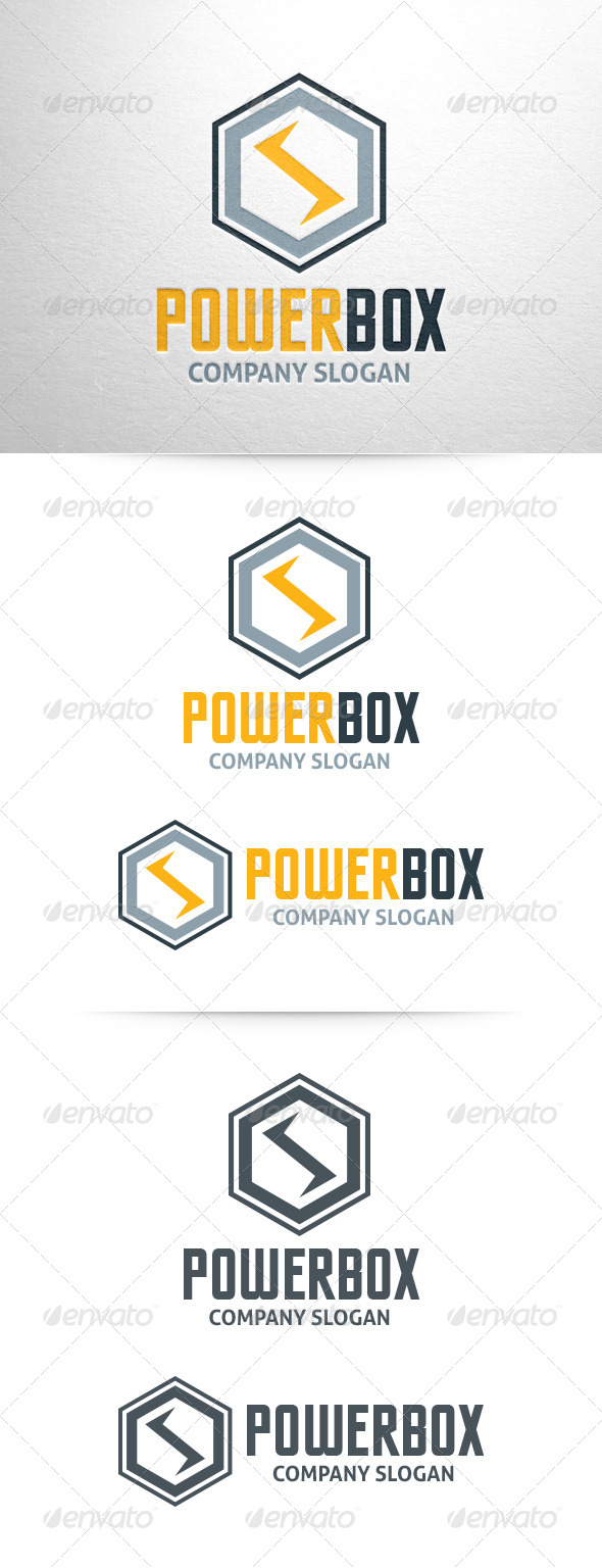 Power Box Logo Template - Abstract Logo Templates