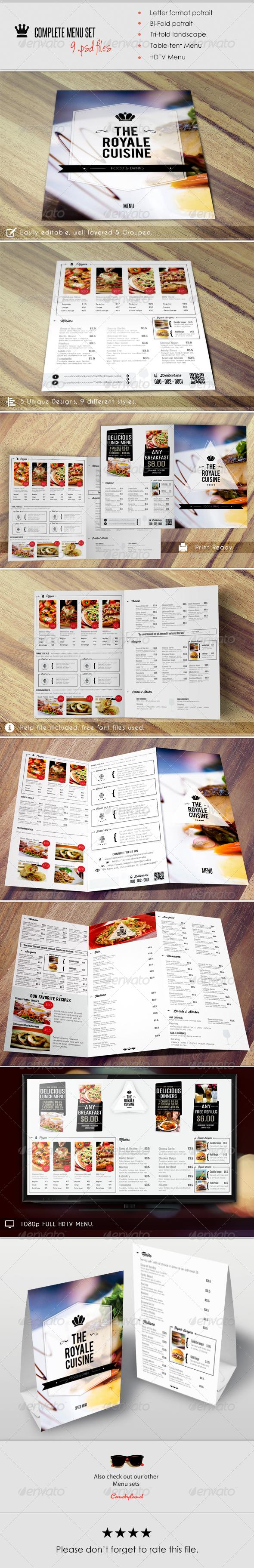 Menu Pack 2 - Food Menus Print Templates