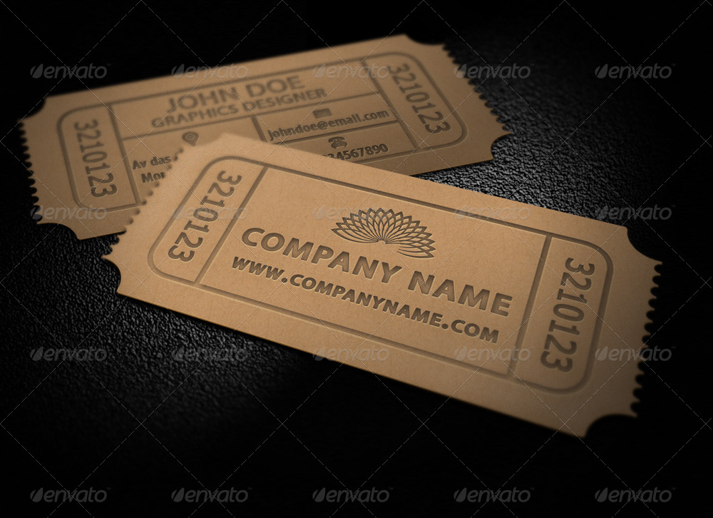 Ticket business card by asceticdesigners graphicriver ticket business card real objects business cards 01preview1 backg colourmoves