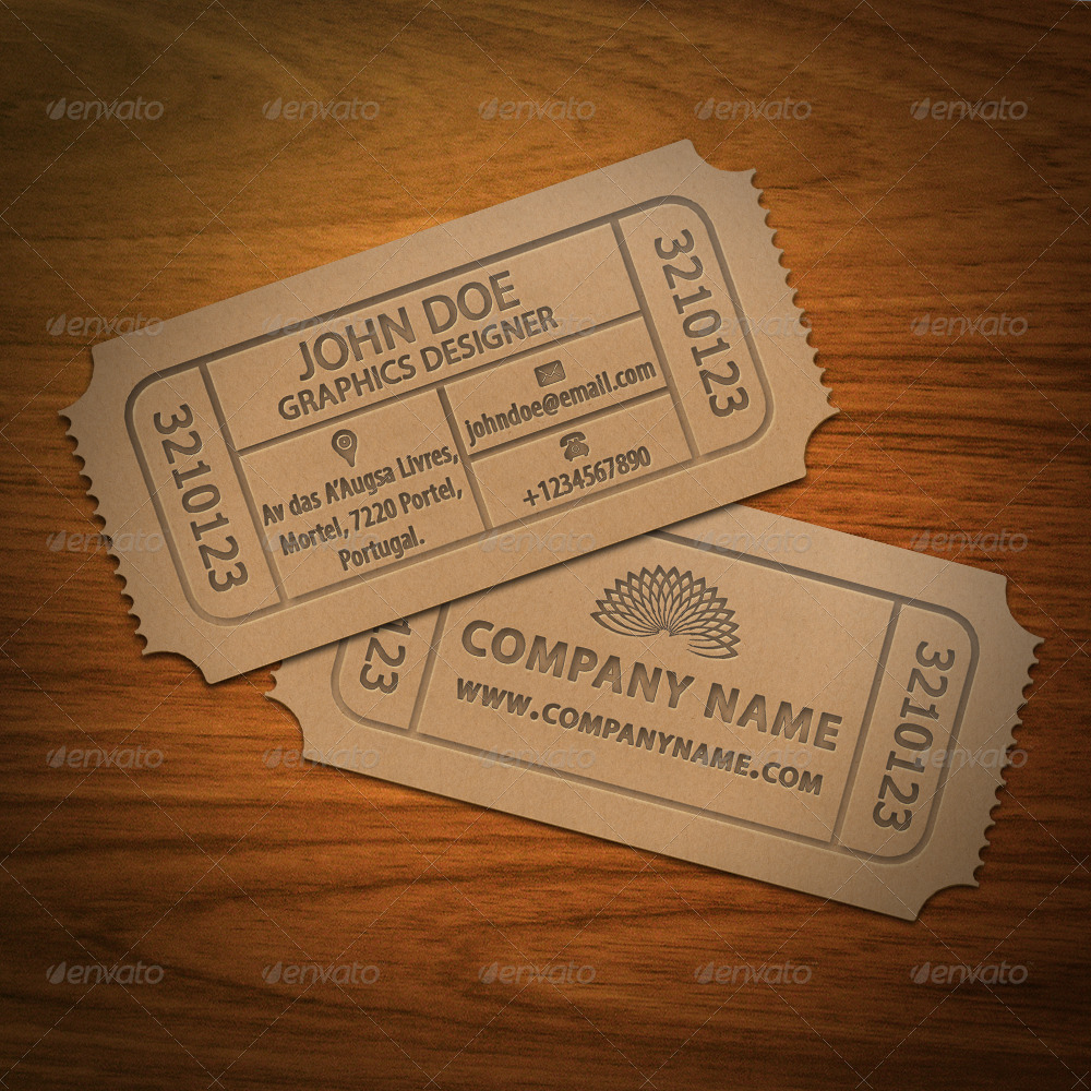 Ticket Business Card by AsceticDesigners | GraphicRiver