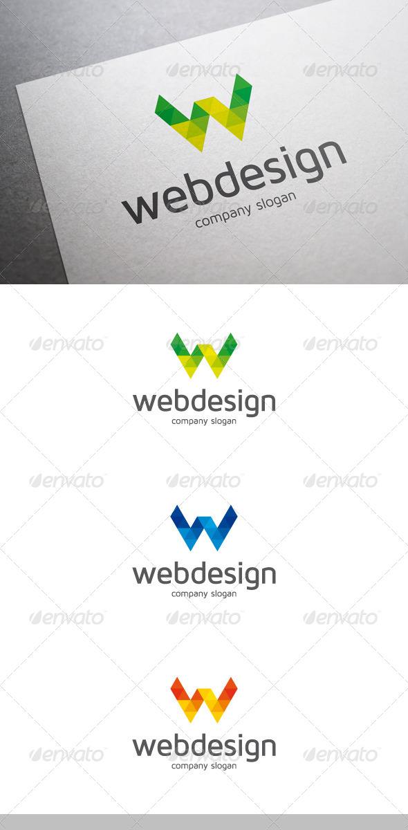 Web Design W Letter Logo - Letters Logo Templates