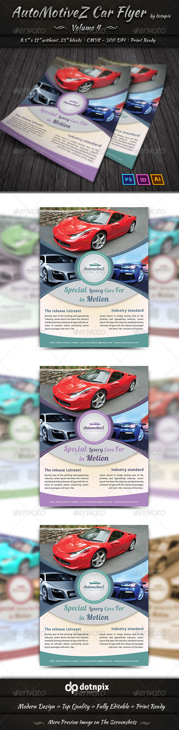 Automobile Business Flyer | Volume 4 - Corporate Flyers
