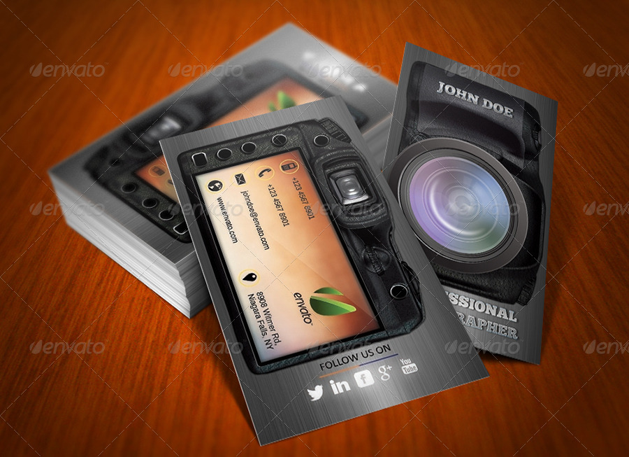 photography creative business card by ethanfx graphicriver