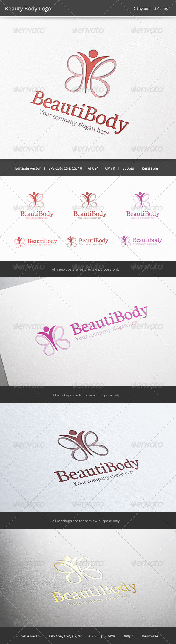 Beauty Body Logo - Humans Logo Templates