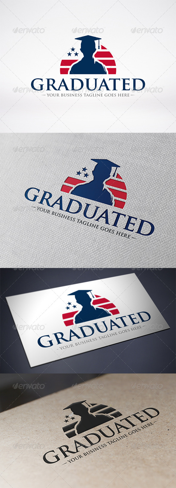 American Graduation Logo Template - Humans Logo Templates