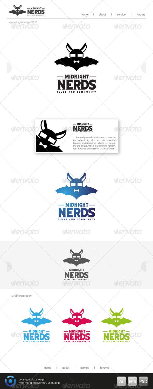 Midnight Nerds Logo - Animals Logo Templates