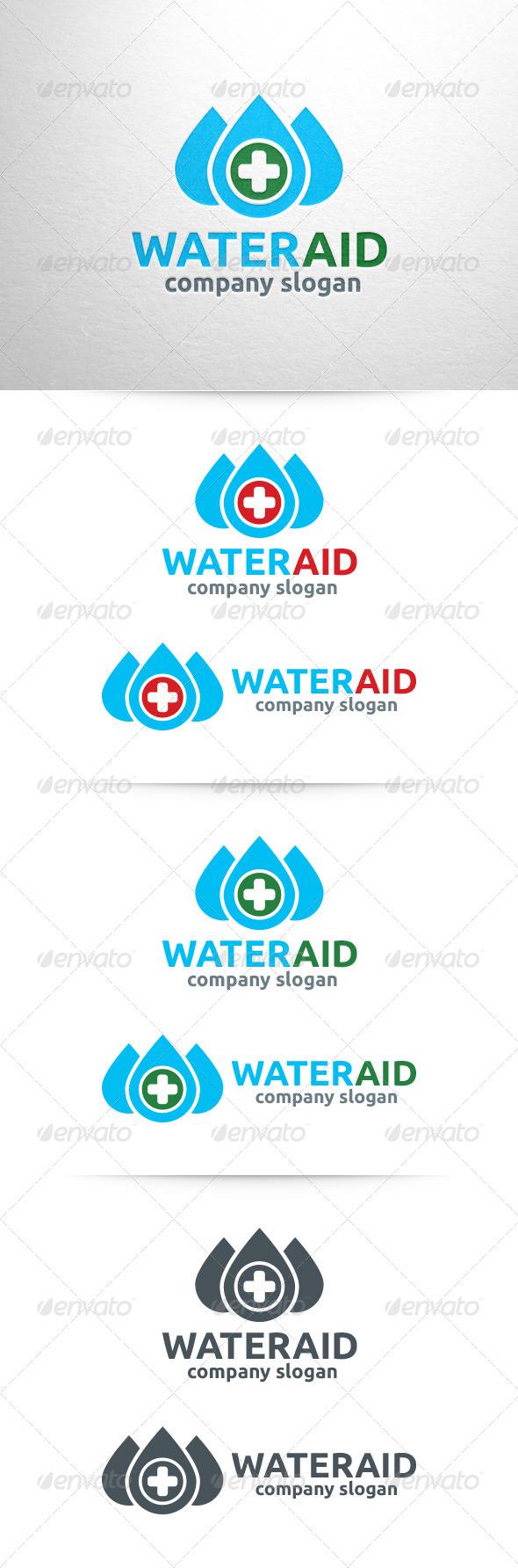 Water Aid Logo Template - Symbols Logo Templates