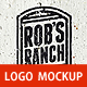Old Paint Logo Mockup - GraphicRiver Item for Sale