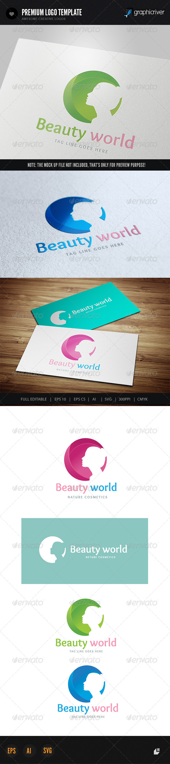 Beauty World - Humans Logo Templates