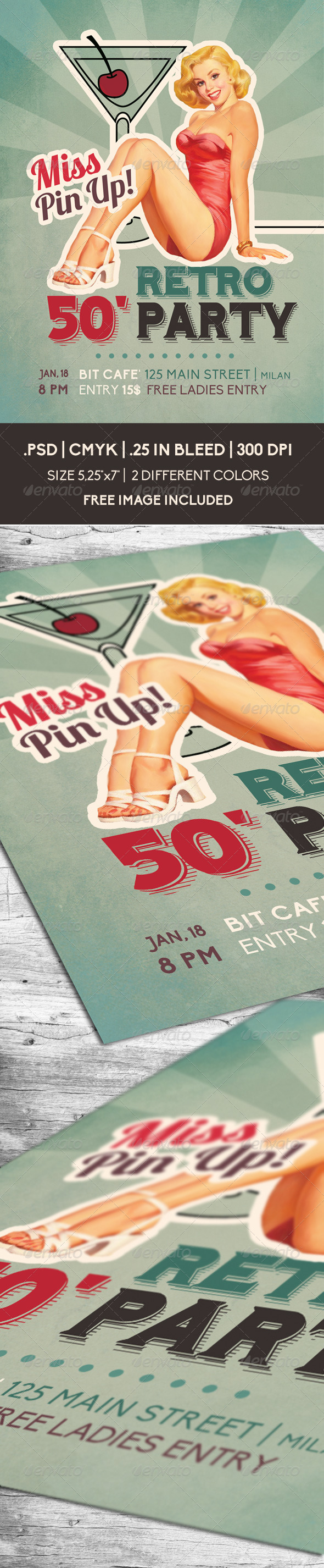 Retro 50' Party | Flyer - Clubs & Parties Events