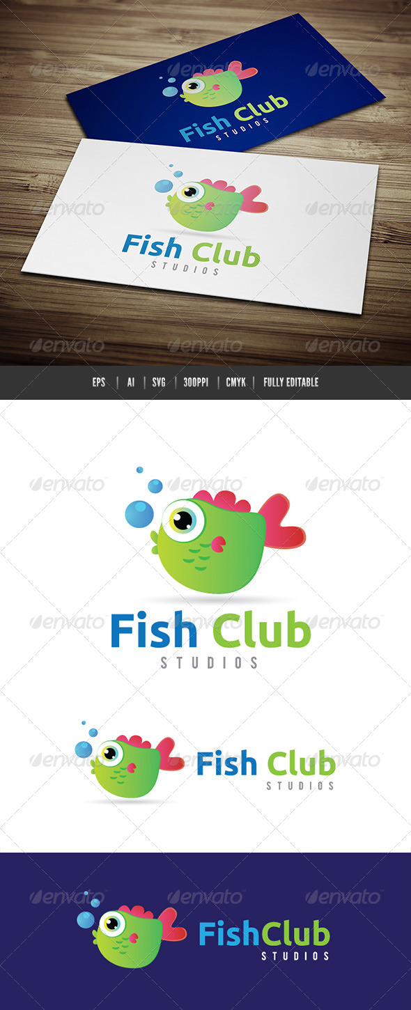 Fish Club - Animals Logo Templates