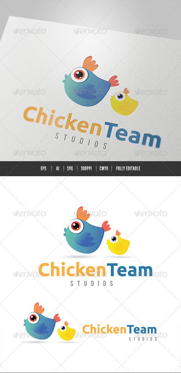 Chicken Team - Animals Logo Templates