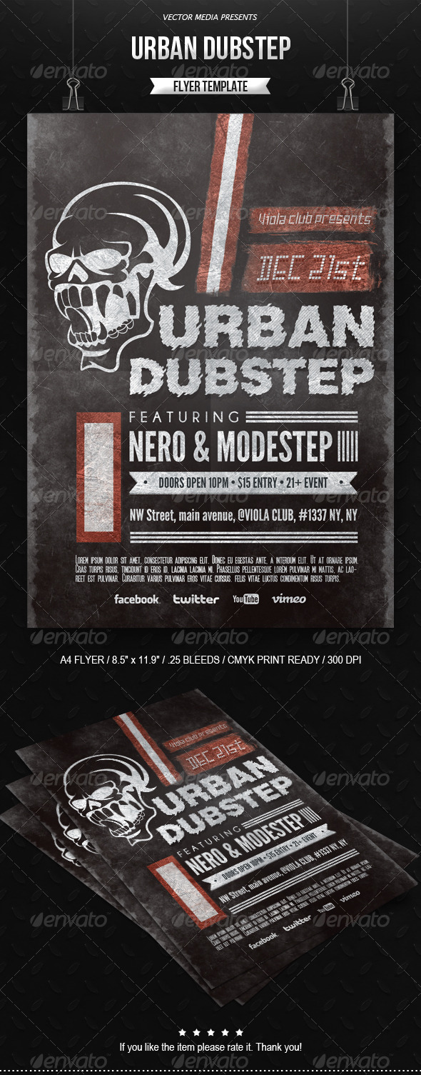 Urban Dubstep - Flyer - Clubs & Parties Events