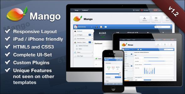 Mango – Slick & Responsive Admin Template - Admin Templates Site Templates