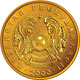 Kazakh Money Gold Coin with the Emblem - GraphicRiver Item for Sale