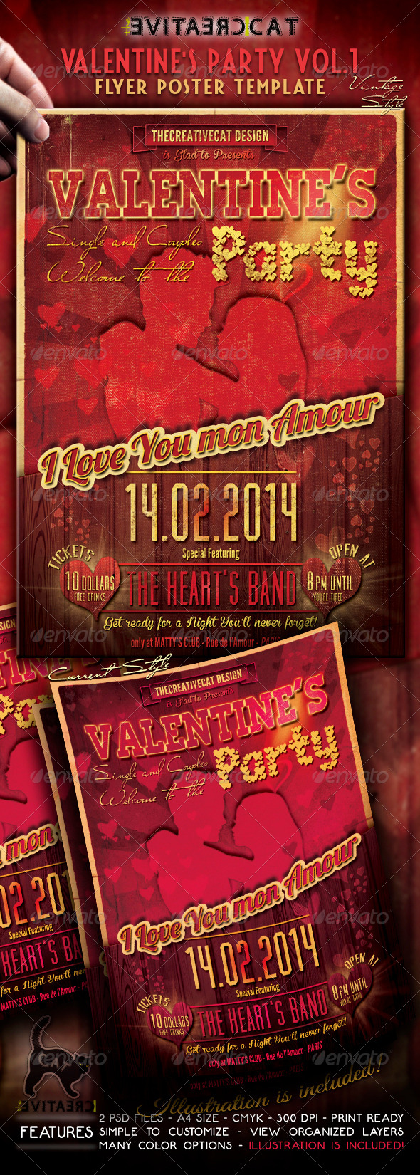 Valentine's Party Flyer/Poster Vol. 1 - Events Flyers