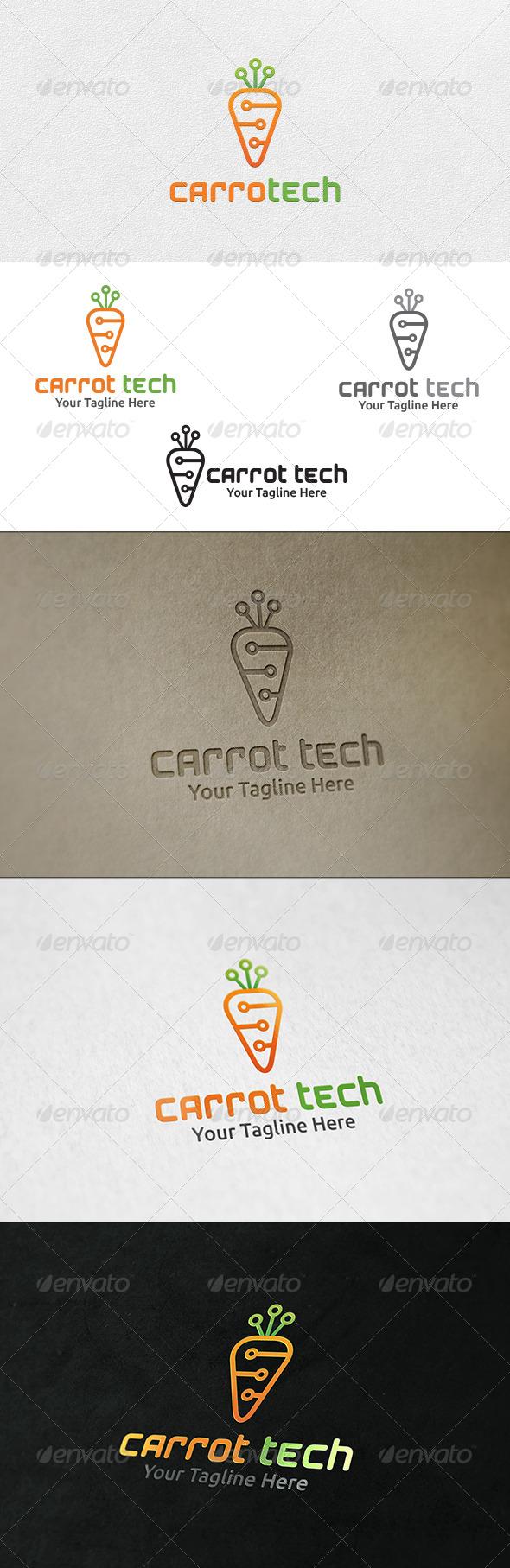 Carrot Tech - Logo Template - Nature Logo Templates