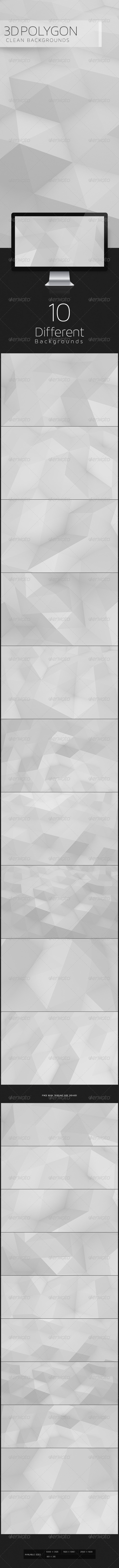 3D Polygon Clean Backgroun - 3D Backgrounds