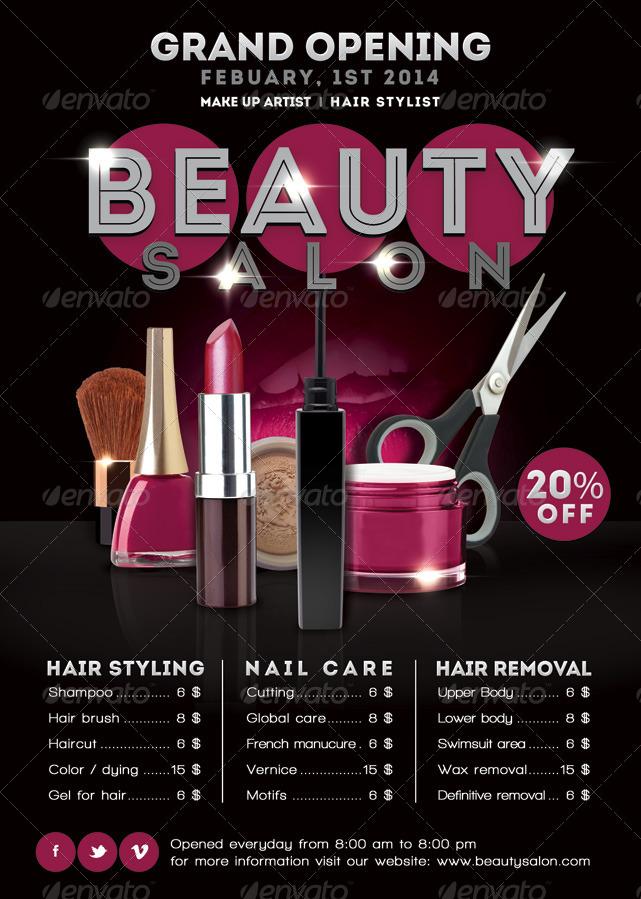 flyer beauty salon opening promoting by n2n44