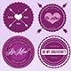 21 Vector Valentine Badges - GraphicRiver Item for Sale