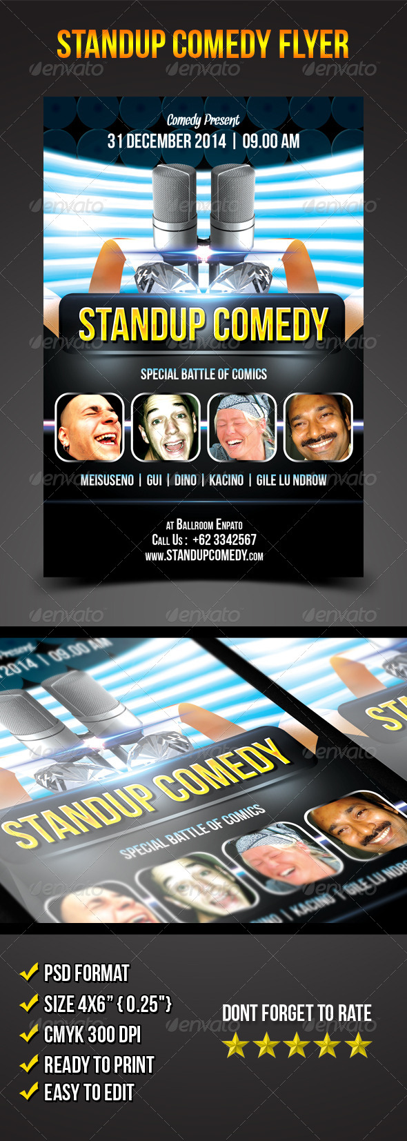 Stand-Up Comedy Flyer - Events Flyers