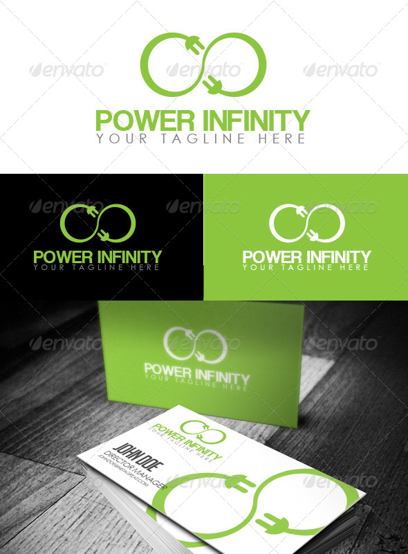 Power Infinity Logo - Abstract Logo Templates