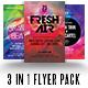 Modern Dance Flyer 3 Flyer Pack - GraphicRiver Item for Sale
