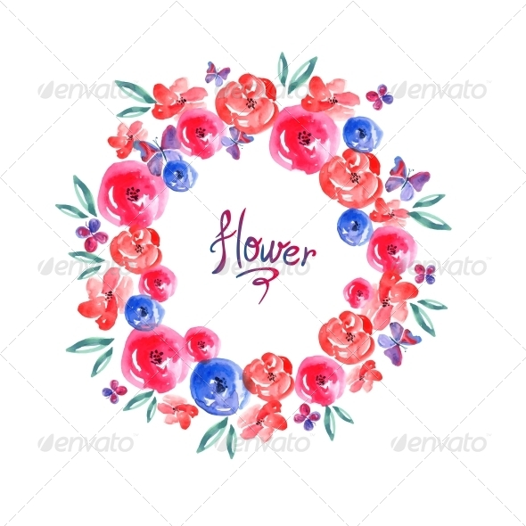 Floral Frame, Invitation Card Vignette  - Patterns Decorative