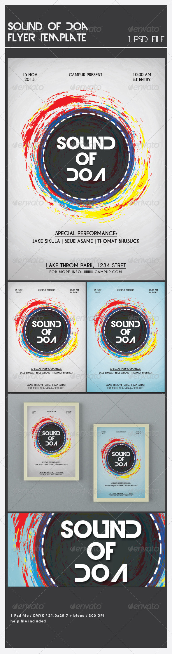 Sound of Doa Flyer Template - Flyers Print Templates