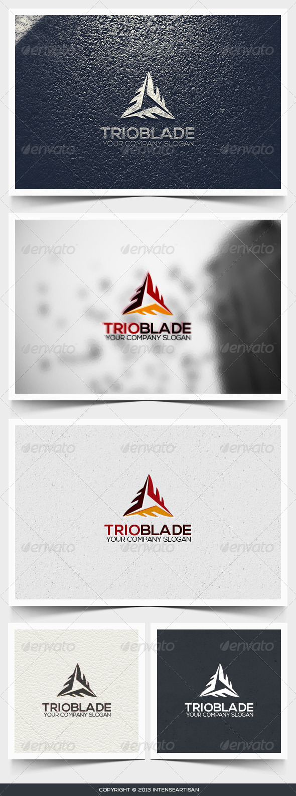 Trioblade Logo Template - Objects Logo Templates