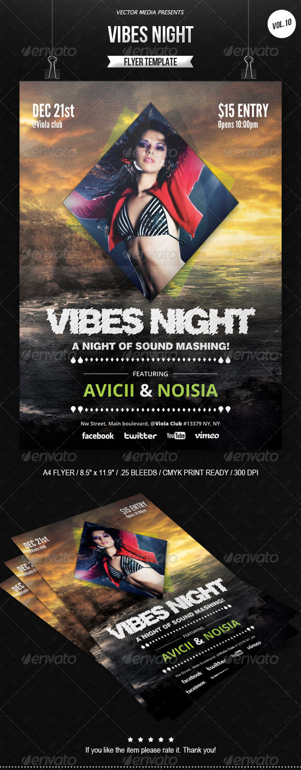 Vibes Night - Flyer [Vol.10] - Clubs & Parties Events