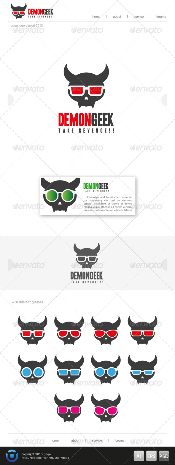 Demon Geek Logo - Logo Templates