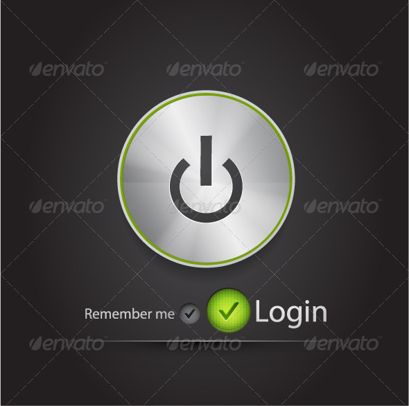 Vector login page with tune button - Web Elements Vectors