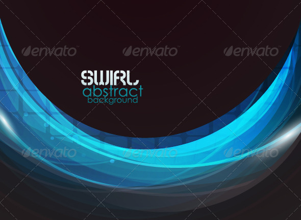 Blue wave vector abstract background - Backgrounds Decorative