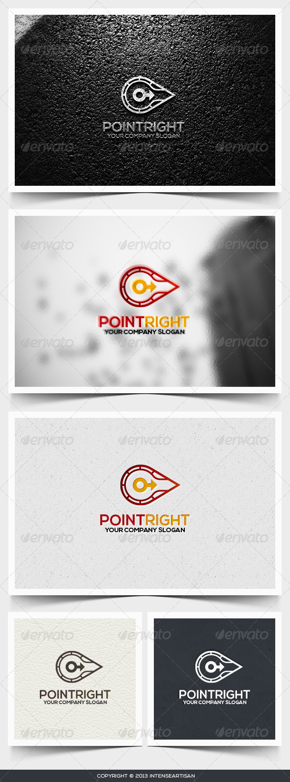 Point Right Logo Template - Objects Logo Templates
