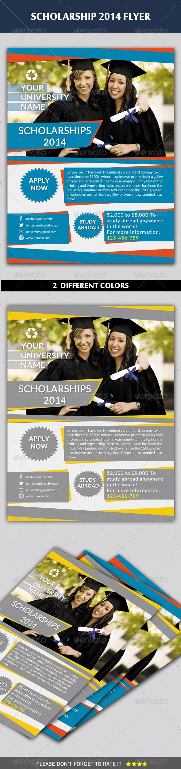 Scholarship Flyer - Flyers Print Templates