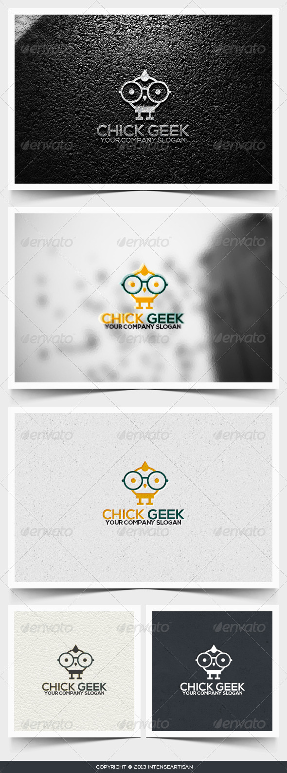 Chick Geek Logo Template - Animals Logo Templates