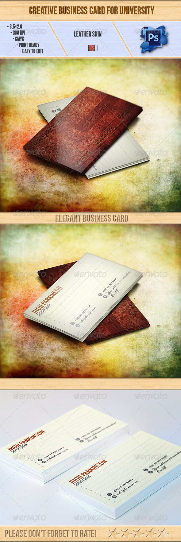 Creative Business Card for University - Creative Business Cards