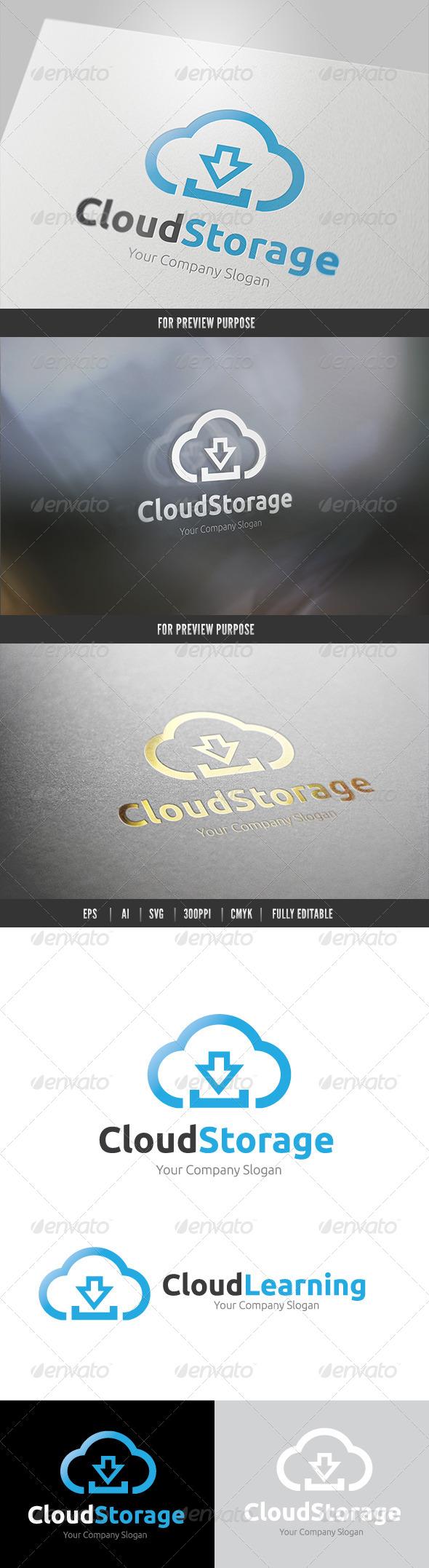Cloud Storage - Nature Logo Templates