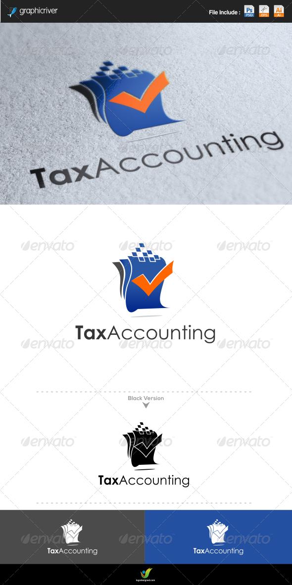 Tax Accounting - Symbols Logo Templates