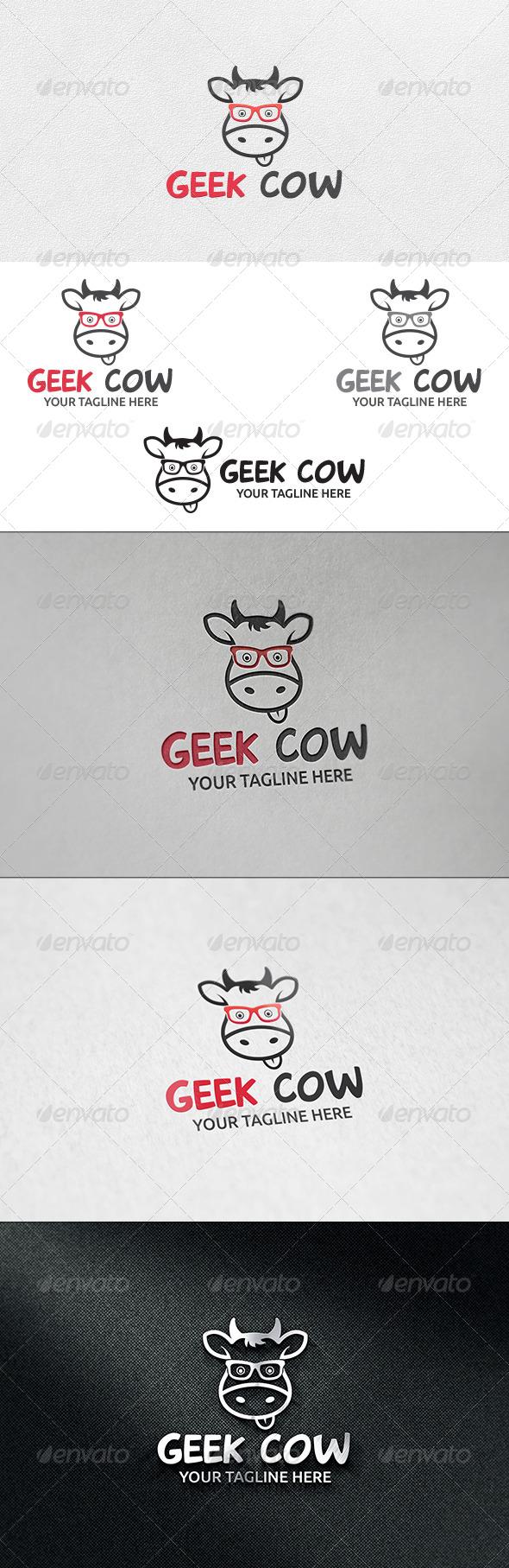Geek Cow - Logo Template - Animals Logo Templates