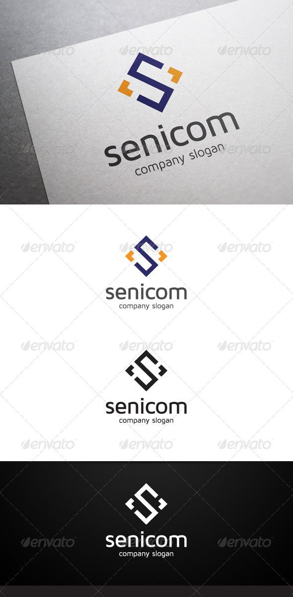 Senicom S Letter Logo - Letters Logo Templates