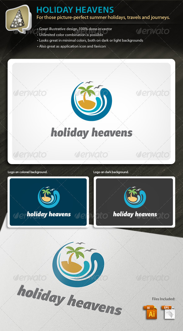 Holiday Heavens - Logo For Leisure and Travel Biz - Nature Logo Templates