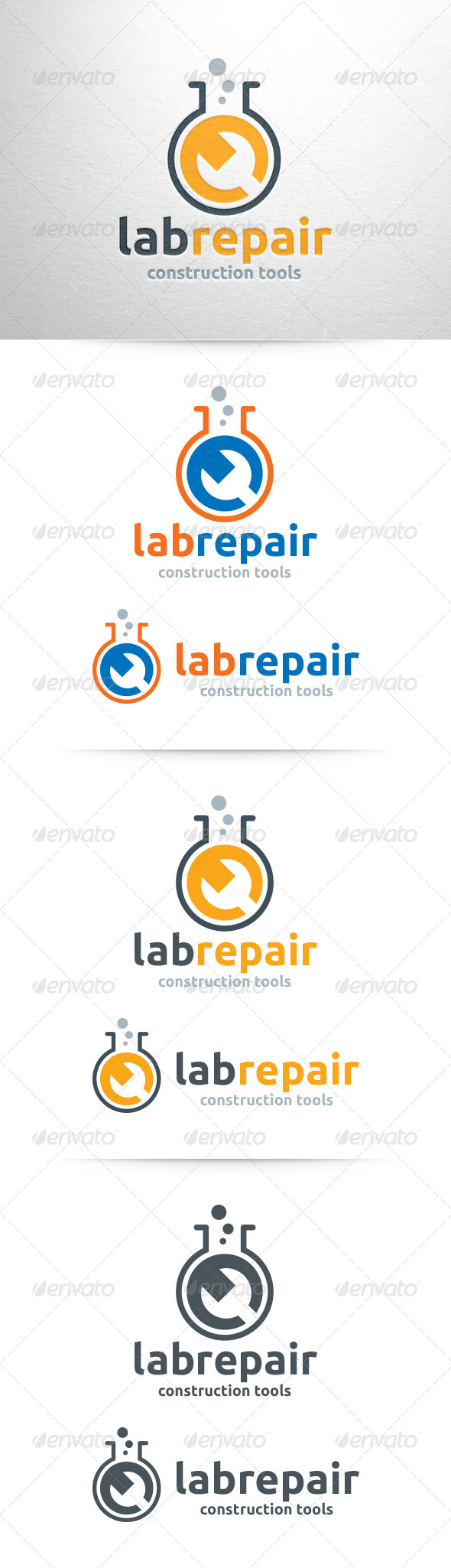 Lab Repair Logo Template - Objects Logo Templates