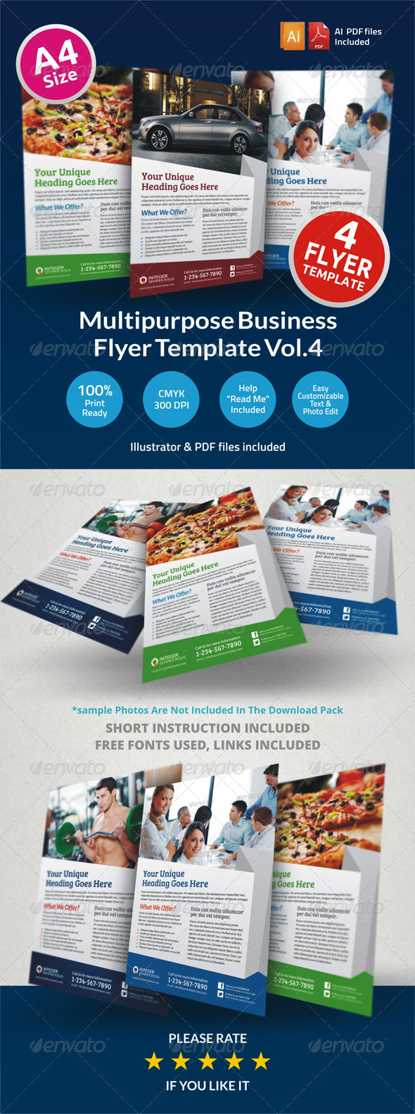 Multipurpose Business Flyer Vol.4 - Corporate Flyers