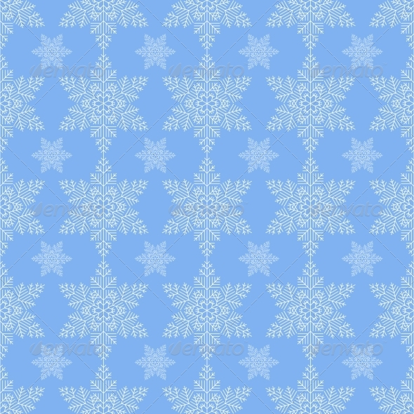 Blue Snowflake Seamless - Patterns Decorative